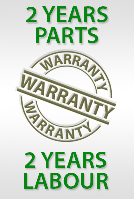 2 Year Parts and Labour Warranty when installed by ECP Group